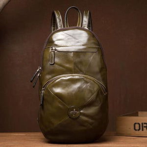 Bourbon Street full Grain Leather Travel Backpack Premium Leather