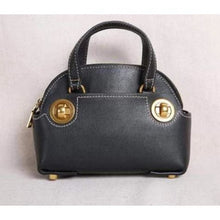 Load image into Gallery viewer, Brass Nob Leather Crossbody/purse & Shoulder Satchel Black Premium Leather