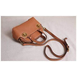 Brass Nob Leather Crossbody/purse & Shoulder Satchel Premium Leather