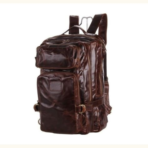 Brillante Large Leather Backpack/travel Shoulder Bag Premium Leather