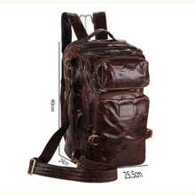 Load image into Gallery viewer, Brillante Large Leather Backpack/travel Shoulder Bag Premium Leather