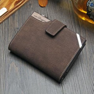 British top Grain Leather Casual Folding Wallet Brown Premium Leather