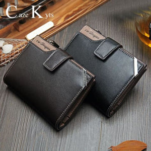 British top Grain Leather Casual Folding Wallet Premium Leather