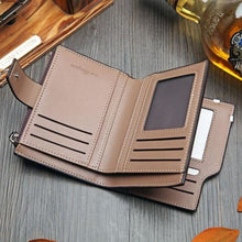 Load image into Gallery viewer, British top Grain Leather Casual Folding Wallet Premium Leather
