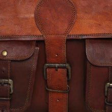 Load image into Gallery viewer, Brown Goat Leather Messenger Bag