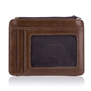 Bull Hide Leather Men's Rfid Wallet/ Soft Clutch Premium Leather