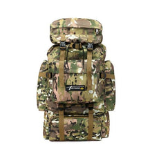 Load image into Gallery viewer, Camouflage Tactical Hiking/camping Backpack 70l Large Premium Leather