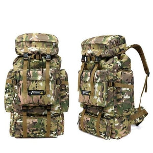 Camouflage Tactical Hiking/camping Backpack 70l Large Premium Leather