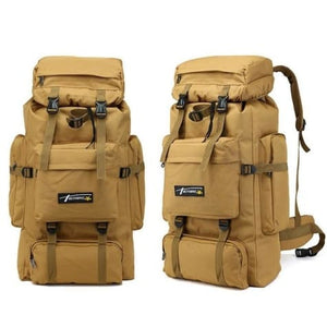 Camouflage Tactical Hiking/camping Backpack 70l Large Sand Premium Leather