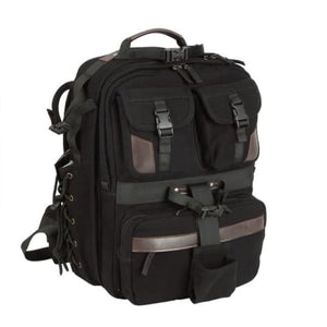 Canvas Large Capacity Dslr Camera Bag Backpack Black Premium Leather