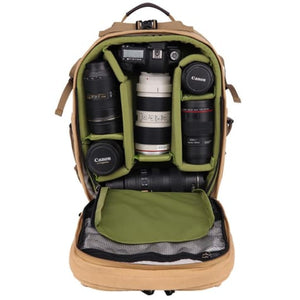 Canvas Large Capacity Dslr Camera Bag Backpack Premium Leather