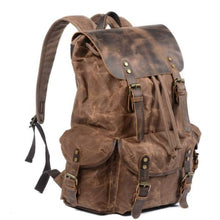 Load image into Gallery viewer, Canvas Photography Dslr Camera Backpack/travel Bag Premium Leather
