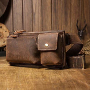Casual Leather Chest & Shoulder Bag Premium Leather