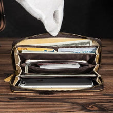 Load image into Gallery viewer, Cat Drogon Authentic Leather Wrist Wallet Clutch Premium Leather