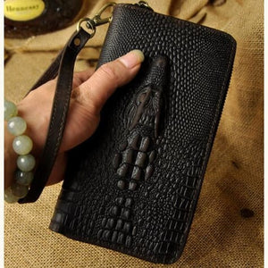 Cat Drogon Authentic Leather Wrist Wallet Clutch Premium Leather