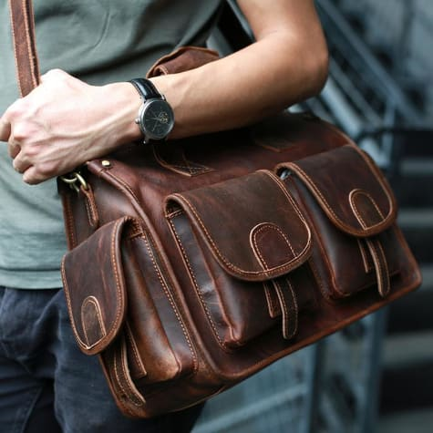 Cavalo Maluco Leather Messenger Bag Handmade Briefcase