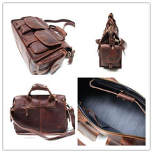 Load image into Gallery viewer, Cavalo Maluco Leather Messenger Bag Handmade Briefcase