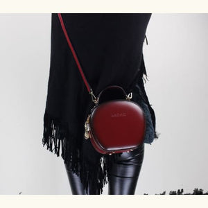 Chic Women's Leather Crossbody/shoulder & Satchel Bag Red Premium Leather