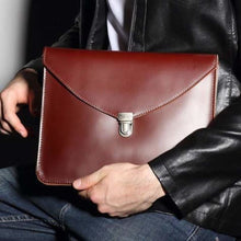 Load image into Gallery viewer, Classic full Grain Leather Envelope Clutch Premium Leather