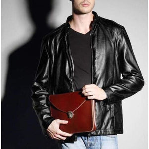 Classic full Grain Leather Envelope Clutch Premium Leather