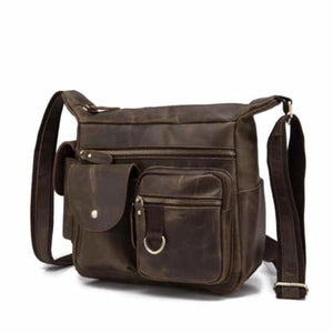 Classic full Grain Leather Messenger & Academy Pack Premium