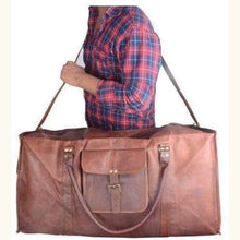 Load image into Gallery viewer, Classic Goat Leather Travel Bag Premium Leather