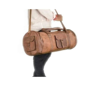 Classic Leather Handcrafted Travel/duffel Bag Premium Leather