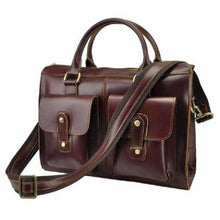 Load image into Gallery viewer, Classic Red Polished Women's Briefcase /satchel Premium Leather