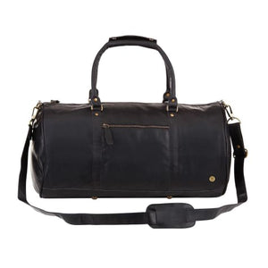 Cognac Leather Classic Duffle and Travel Bag Black Premium Leather