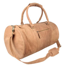 Load image into Gallery viewer, Cognac Leather Classic Duffle and Travel Bag Premium Leather