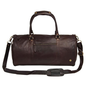 Cognac Leather Classic Duffle and Travel Bag Mahogany Premium Leather