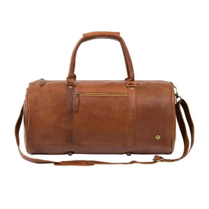 Cognac Leather Classic Duffle and Travel Bag Brown Premium Leather