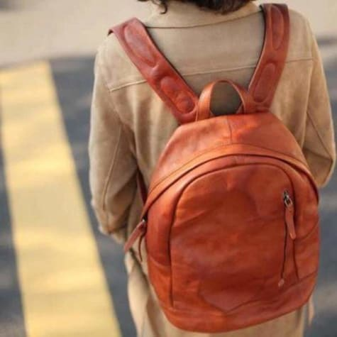 Commuter Soft Leather Backpack & Academy Knapsack Premium Leather