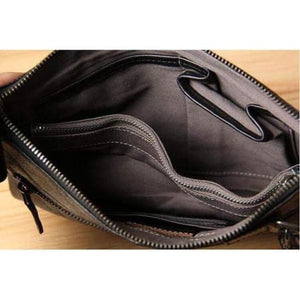 Contemporary Leather Clutch/handbag Premium Leather