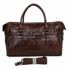 Load image into Gallery viewer, Contemporary Leather Tavel/duffel & Weekend Overnight Bag Premium Leather