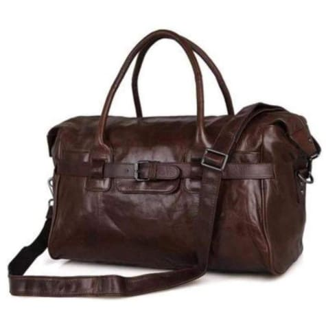 Contemporary Leather Tavel/duffel & Weekend Overnight Bag Premium Leather