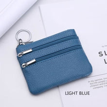Load image into Gallery viewer, Cor Dior Authentic top Grain Leather Wristlet/wallet Sky Blue Premium Leather