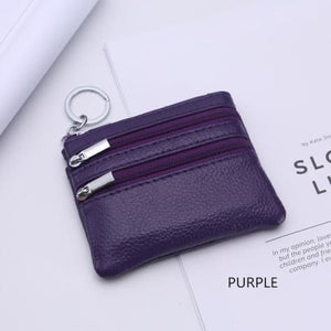 Cor Dior Authentic top Grain Leather Wristlet/wallet Purple Premium Leather