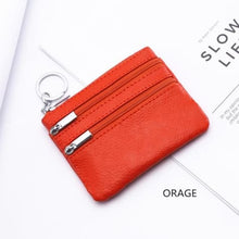 Load image into Gallery viewer, Cor Dior Authentic top Grain Leather Wristlet/wallet Orange Premium Leather