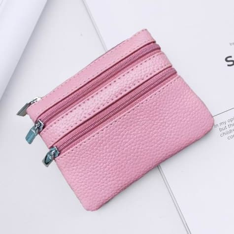 Cor Dior Authentic top Grain Leather Wristlet/wallet Pink Premium Leather