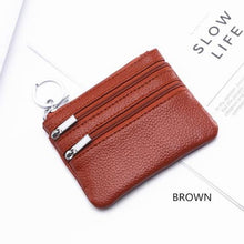 Load image into Gallery viewer, Cor Dior Authentic top Grain Leather Wristlet/wallet Brown Premium Leather