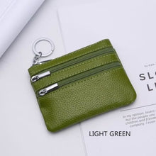 Load image into Gallery viewer, Cor Dior Authentic top Grain Leather Wristlet/wallet Light Green Premium Leather