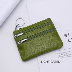 Cor Dior Authentic top Grain Leather Wristlet/wallet Light Green Premium Leather