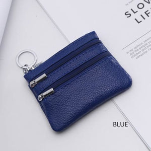 Cor Dior Authentic top Grain Leather Wristlet/wallet Blue Premium Leather