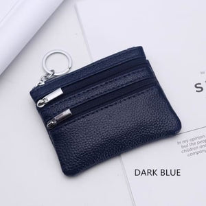 Cor Dior Authentic top Grain Leather Wristlet/wallet Deep Blue Premium Leather