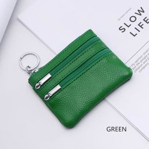 Cor Dior Authentic top Grain Leather Wristlet/wallet Green Premium Leather