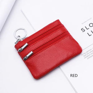 Cor Dior Authentic top Grain Leather Wristlet/wallet Red Premium Leather