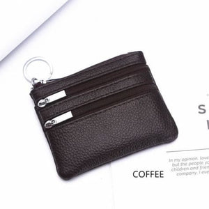 Cor Dior Authentic top Grain Leather Wristlet/wallet Coffee Premium Leather