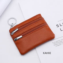 Load image into Gallery viewer, Cor Dior Authentic top Grain Leather Wristlet/wallet Dark Khaki Premium Leather