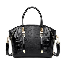 Load image into Gallery viewer, Cottonwood Ladies' Leather Fashion Hand and Shoulder Bag Black Premium Leather